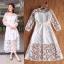 ชุดเดรสเกาหลี พร้อมส่ง Maxi dress เดรสลูกไม้ thumbnail 4