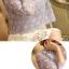 พร้อมส่ง เสื้อผ้าถักโครเชต์สีเทาอมฟ้า แขนยาว thumbnail 9
