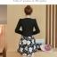 เดรสเกาหลี พร้อมส่ง เดรสกระโปรงทรงเอกับเสื้อสูท thumbnail 6