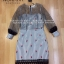 Dress ชุดเดรสเกาหลี พิมพ์ลายริ้ว พร้อมส่ง thumbnail 3
