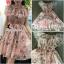 พร้อมส่ง Mini Dress พิมลายดอกไม้ซีทรู thumbnail 1