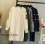 เสื้อเกาหลี พร้อมส่ง เสื้อคลุมตัวยาว มี 4 สี thumbnail 10