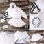 เสื้อผ้าเกาหลี พร้อมส่ง เสื้อครอบสั้น+กระโปรงพลีตสั้น thumbnail 2