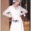 เสื้อผ้าเกาหลี พร้อมส่ง โค้ทยาว ผ้าเครปสีขาวตกแต่งลูกไม้ thumbnail 2
