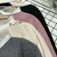 เสื้อเกาหลี พร้อมส่ง เสื้อเชิ้ต ไหมพรมปักกวาง thumbnail 19