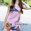 เดรสเกาหลี พร้อมส่ง มินิเดรส ปักดอกไม้ สีชมพู thumbnail 4