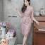 เดรสเกาหลี พร้อมส่ง Dress ลูกไม้เอวระบาย thumbnail 10