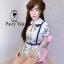 เสื้อผ้าเกาหลี พร้อมส่ง จั้มสูท คอบัวปักดอกไม้ thumbnail 4