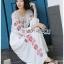 ชุดเดรสเกาหลี พร้อมส่ง เดรสยาว ลายดอกไม้สไตล์โบฮีเมียน thumbnail 4