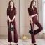 เสื้อผ้าเกาหลี พร้อมส่ง เสื้อ+กางเกงผ้าคอตตอนโพลี่ thumbnail 5
