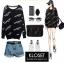เสื้อเกาหลี พร้อมส่ง Kendall Jenner thumbnail 12