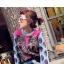 เสื้อเกาหลี พร้อมส่ง เสื้อลายเสือโทนสีฟ้าชมพู thumbnail 1
