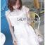 เดรสแฟชั่น พร้อมส่ง เดรสผ้าลูกไม้สีขาว หน้าอกทรงหัวใจ thumbnail 9