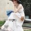 ชุดเดรสเกาหลี สีขาวผ้าชีฟอง พร้อมส่ง thumbnail 1