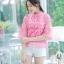 เสื้อเกาหลี ผ้าลูกไม้ ลายดอกกุหลาบ พร้อมส่ง thumbnail 12