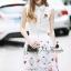 พร้อมส่ง เสื้อสีขาวปักดอกกุหลาบสีแดง thumbnail 4