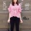 เสื้อเกาหลี แขนจั๊มพอง พร้อมส่ง thumbnail 3