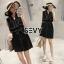 พร้อมส่ง Mini dress โทนสีดำแขนกุด thumbnail 5