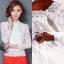 เสื้อเกาหลี ลูกไม้ คอกลม พร้อมส่ง thumbnail 3
