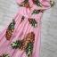 ชุดเดรสเกาหลี พร้อมส่ง Dress เปิดไหล่ ลายสัปปะรด thumbnail 7