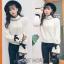 เสื้อเกาหลี พร้อมส่ง เสื้อไหมพรมคอสูง thumbnail 11