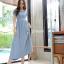 พร้อมส่ง Maxi dress ผ้ายืดผ้านุ่มนิ่ม thumbnail 3