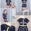 เสื้อผ้าเกาหลี Jumpsuit ขาสั้น พร้อมส่ง thumbnail 2