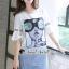 เดรสเกาหลี พร้อมส่ง เดรสยีนส์ ลายหน้าผู้หญิง thumbnail 14