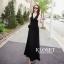 ชุดเดรสเกาหลี Maxi dress ไขว์ด้านหน้า พร้อมส่ง thumbnail 4
