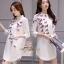 เดรสเกาหลี พร้อมส่ง มินิเดรส ปักผีเสื้อ 3 มิติ thumbnail 3