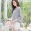 เสื้อเกาหลี พร้อมส่ง เสื้อผ้าชีฟองปักลายดอกไม้ thumbnail 14