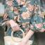 ชุดเดรสเกาหลี พร้อมส่ง maxxi ลายดอก แต่งระบาย thumbnail 14