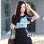 เสื้อผ้าเกาหลี พร้อมส่ง playsuit ขาสั้น แขนพอง thumbnail 2