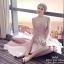 เดรสเกาหลี พร้อมส่ง เดรสลุคสวยหรูสีชมพูหวาน thumbnail 5
