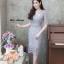 ชุดเดรสเกาหลี พร้อมส่ง Dress ลูกไม้คอวี thumbnail 13
