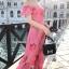 ชุดเดรสเกาหลี พร้อมส่ง Maxi Dress เดรสยาว ลายดอกไม้สีชมพู thumbnail 6