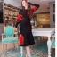เสื้อผ้าเกาหลี พร้อมส่ง Set เสื้อคาดิแกน+กระโปรง thumbnail 4