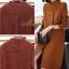 เดรสเกาหลี พร้อมส่ง Dress คอปีน แขนยาว thumbnail 12