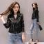 เสื้อเกาหลี ZARA Leather Jacket แจ็คเก็ตหนัง พร้อมส่ง thumbnail 7