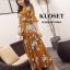 เดรสเกาหลี พร้อมส่ง Maxi Dress ลายดอก thumbnail 15