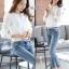 เสื้อเกาหลี คอกลม ผ่าคอ พร้อมส่ง thumbnail 1