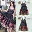 ชุดเดรสเกาหลี พร้อมส่ง Dress ยาวแขนกุดพิมพ์ลาย thumbnail 1