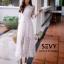 พร้อมส่ง Maxi dress ยาวสีขาว thumbnail 6