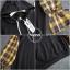 เสื้อเกาหลี พร้อมส่ง เสื้อตัวยาว ช่วงแขนลายสก๊อต thumbnail 6