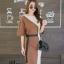 เดรสเกาหลี พร้อมส่ง Long Dress เดรสทูโทน ตัวยา thumbnail 6