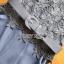 เสื้อผ้าเกาหลี พร้อมส่ง จัมป์สูท ผ้าเครปและผ้าลูกไม้สีเทาเข้ม thumbnail 17