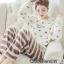 เสื้อผ้าเกาหลี พร้อมส่ง ชุดนอนผ้าขนมิงค์ thumbnail 3