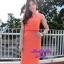 พร้อมส่ง เซทเสื้อ+กระโปรง เสื้อครอปสีส้ม มาพร้อมสร้อยคอ thumbnail 1