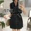 พร้อมส่ง Mini dress โทนสีดำแขนกุด thumbnail 7