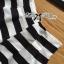 พร้อมส่ง เสื้อและกางเกงลายทางหนาสีขาว-ดำ thumbnail 16